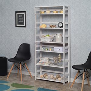 flip flop, bookcase, bookshelf, folding, collapsing, shelves, wood furniture,living room, white