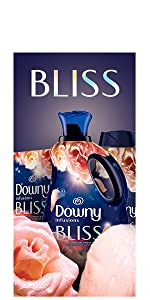 downy infusions fabric conditioner bliss scent, fabric softener, washing machine, dryer sheets