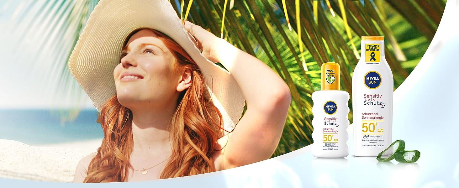 NIVEA Sonnencreme sonnenmilch sonnenlotion sonnenspray sun lsf 50 30 sensitive empfindliche Haut