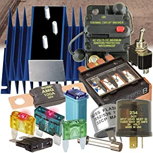 Bussmann Automotive Fuses Holders Taps Circuit Breakers Junction Blocks Toggle Switch Flashers Panel