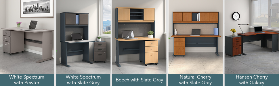 Bush Business Furniture Series C Collection 24W Hutch in Mahogany