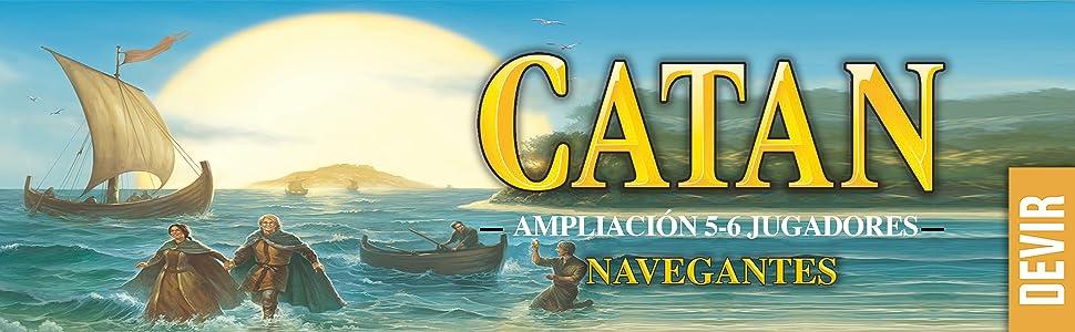 Devir - Catan, Navegantes (BGNAV56) - Ampliación para 5 y 6 jugadores: Amazon.es: Juguetes y juegos
