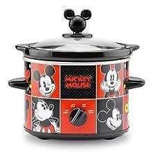 Mickey Mouse Disney 2 Quart Slow Cooker Fun Birthday Breakfast Lunch Dinner