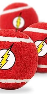 The Flash Tennis Ball Fetch Toy Dog Pet DC Comics Barry Allen Speedster