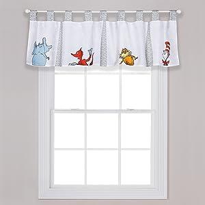 seuss windowb valance, dr seuss window valance, children's window valance