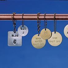 B-919 Stainless Steel Stock Blank Tag Brady Worldwide Inc. Brady 44403 2 Width x 2 Height Pack of 25