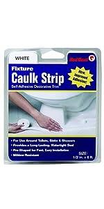 Red Devil 0151 Wide White Tub And Wall Caulk Strip 1 5 8