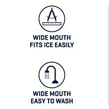 wide mouth fits ice easily and is easy to wash