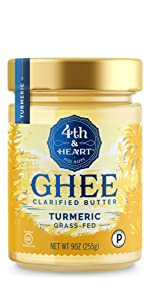 fourth and heart 4th turmeric ghee clarified butter grass fed lactose free keto