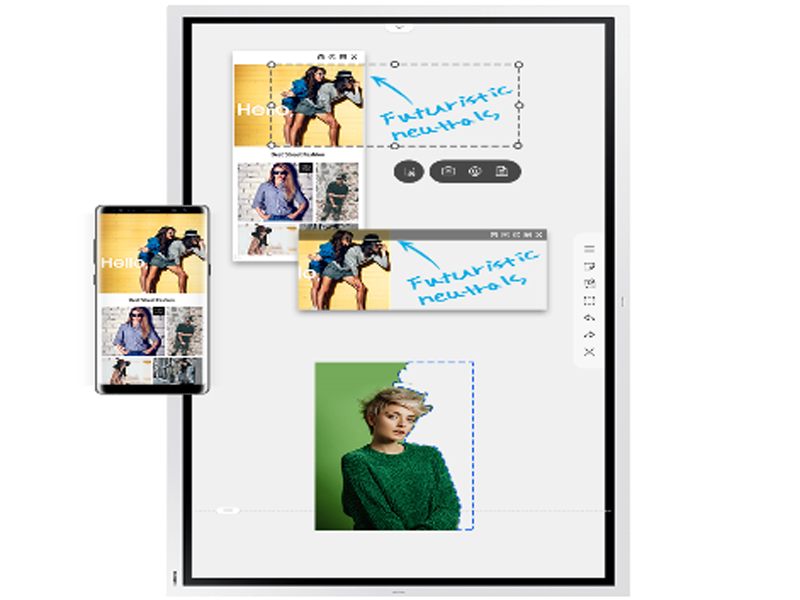 Easily select, move, crop, capture, and edit any images on the Samsung Flip