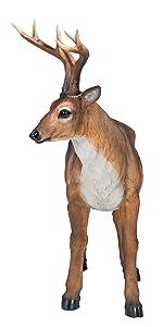 Design Toscano Grand Rack Cerf Mâle Statue d'Animal pour Décoration de Jardin, 71 cm, polyrésine