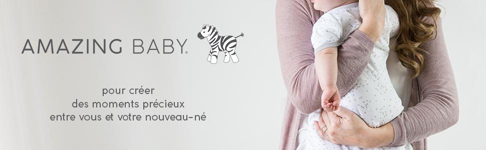 Gigoteuse d/ét/é b/éb/é en coton pour b/éb/é avec revers retroussables au niveau des bras Amazing Baby by SwaddleDesigns