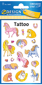 Tattoo kinderen paarden