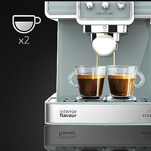 Cecotec Cafetera Express Power Espresso 20 Tradizionale para espressos y cappuccinos, rápido Sistema de Calentamiento por thermoblock, 20 Bares, ...