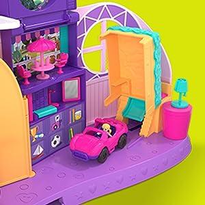 NUOVO Polly Pocket Go piccola stanza TRASFORMAZIONE Playset FRY98 4Yrs