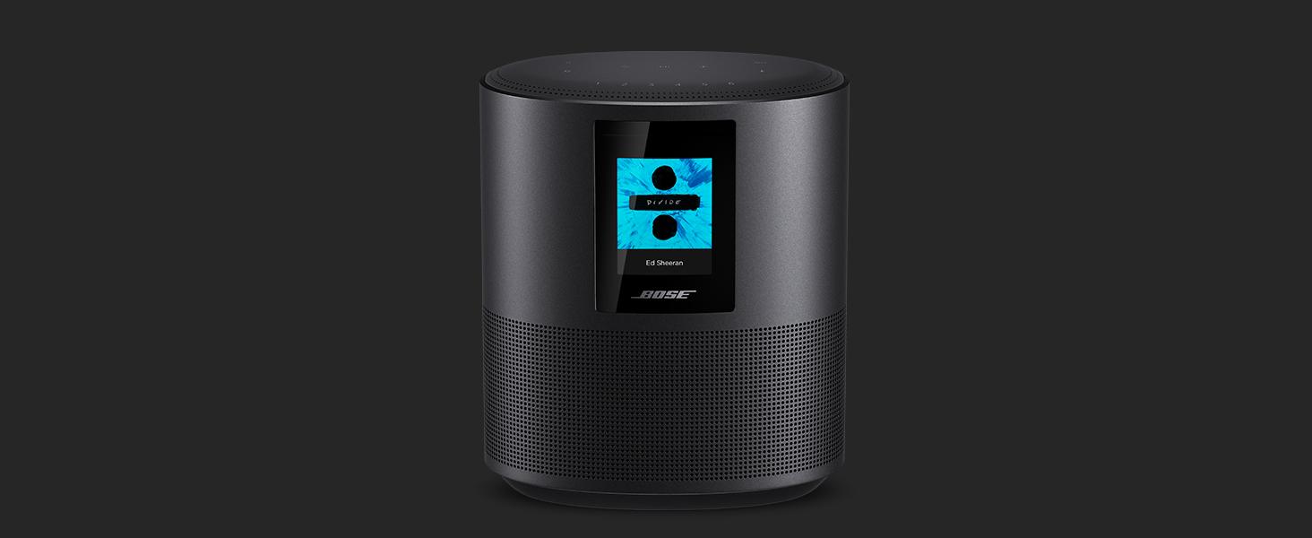 Bose - Home Speaker 500, sonido estéreo, con Alexa integrada, triple negro
