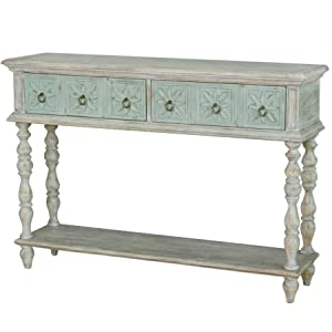 Two Tone Drawer Console Table
