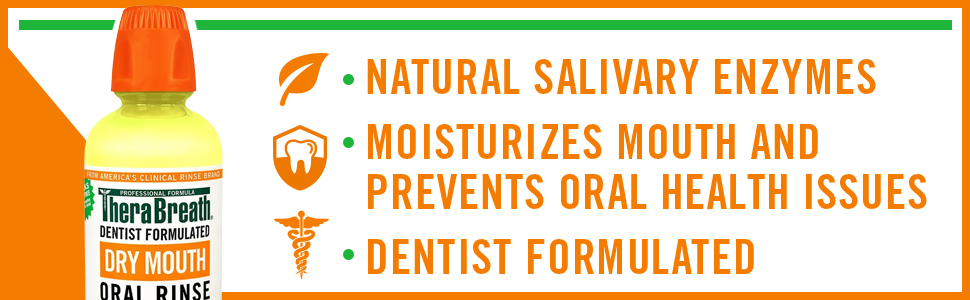 natural salivary enzymes moisturizes mouth and prevents oral health issues dentist formulated