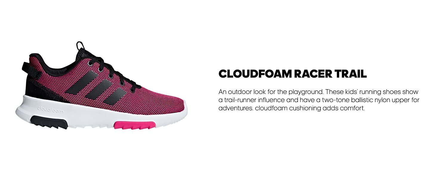 adidas core cloudfoam racer trail kids