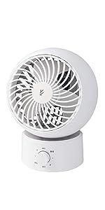 【Amazon.co.jp 限定】 [山善] 扇風機 サーキュレーター 静音 (換気/空気循環) 首振り 固定 上下角度調節 風量3段階調節 ホワイト 15cm AAS-W15(W)