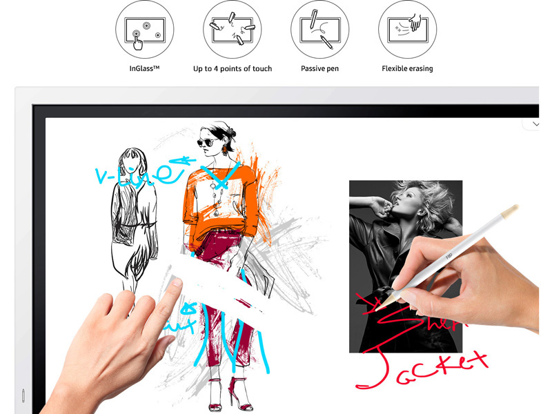 Multiple users writing and erasing images on the Samsung Flip