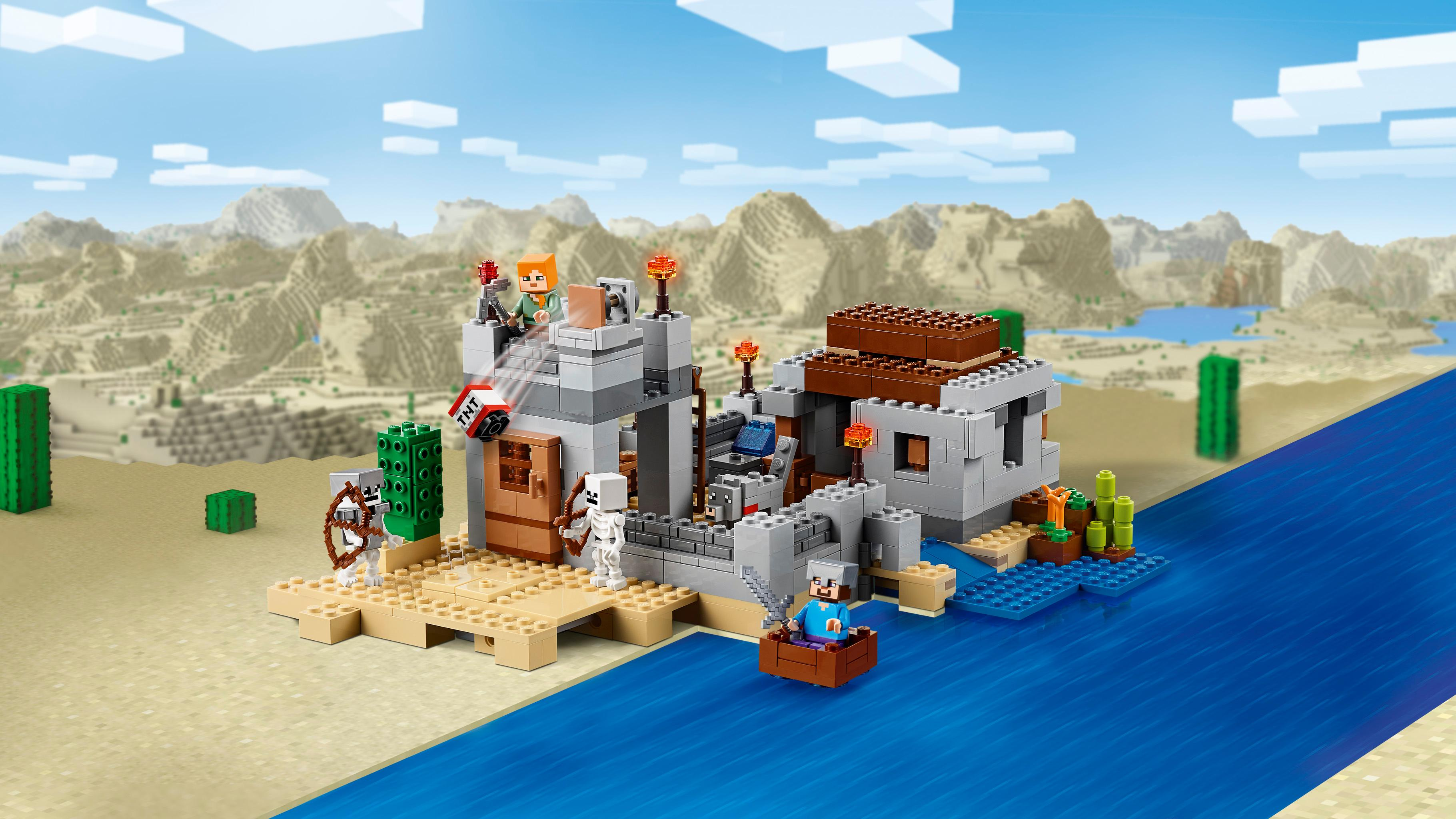 Amazon Com  Lego Minecraft The Desert Outpost 21121  Toys  U0026 Games
