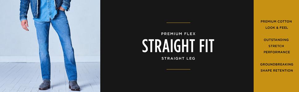 LEE Men's Premium Flex Straight Fit Straight Leg Jean
