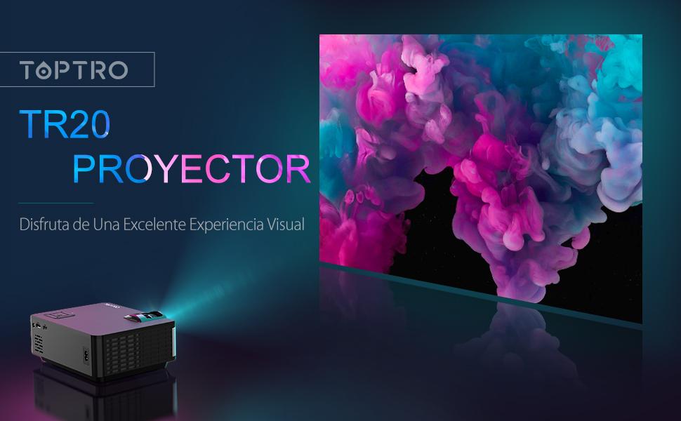 Proyector, TOPTRO Mini Proyector Portátil de Cine en Casa 4500 ...