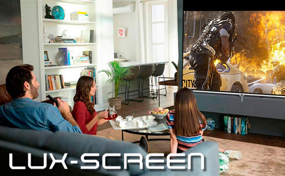 """pantalla de proyección manual 112"""", pantalla de proyección manual amazon, pantalla proyector barata"""