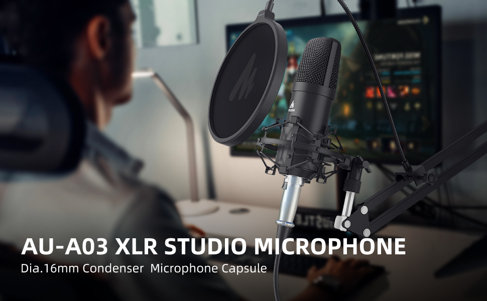 condenser podcast xlr microphone