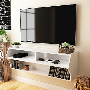 Prepac WCAW-0200-1 Altus Wall Mounted Audio/Video Console, White