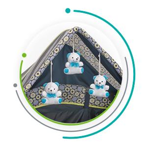 Funcionalidad perfecta para que tu bebé y tú estén cómodos a la hora de la siesta.