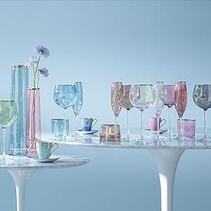 lsa international handmade glass mouthblown by artisans sorbet collection