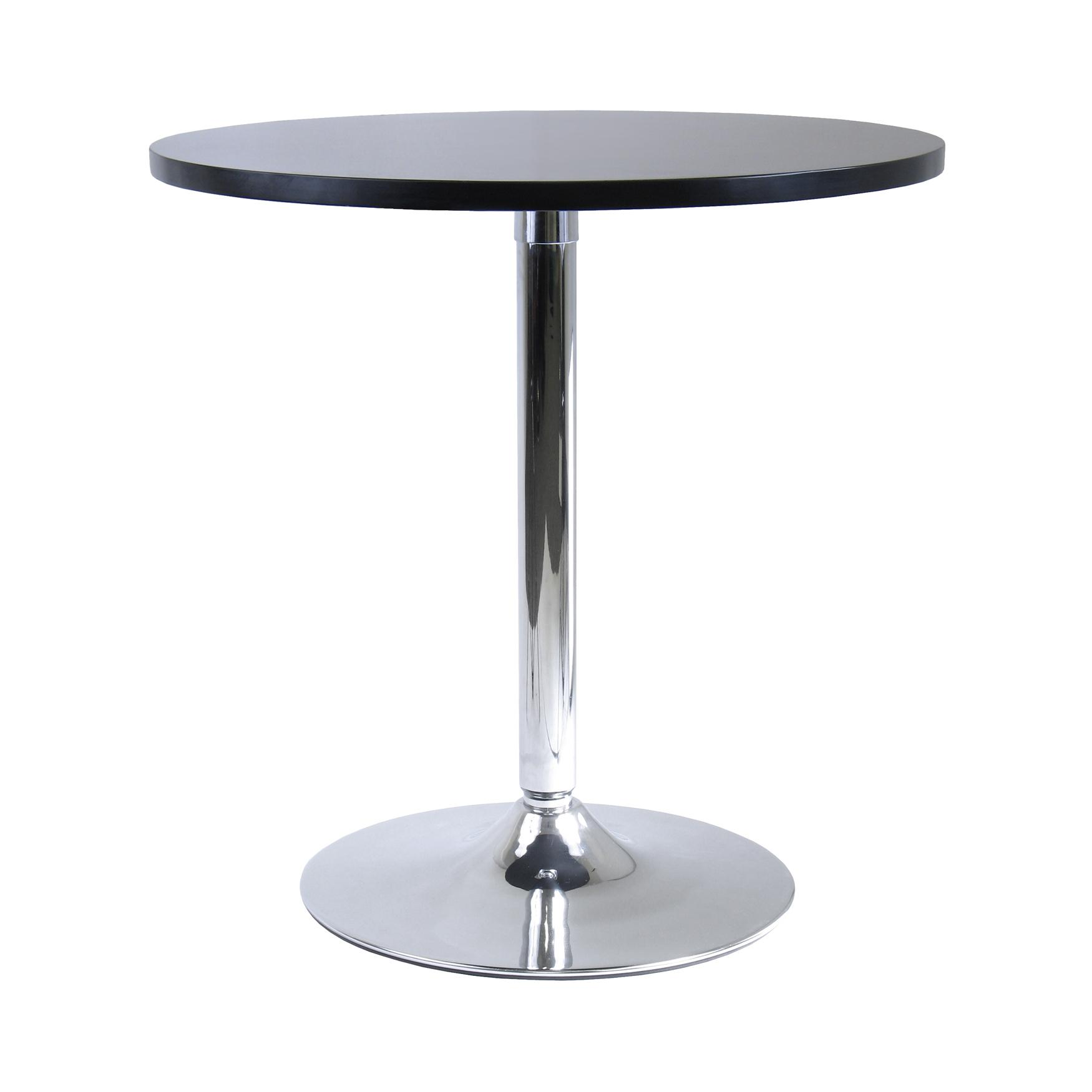 Winsome Wood 29 Inch Round Dining Table Black With Metal