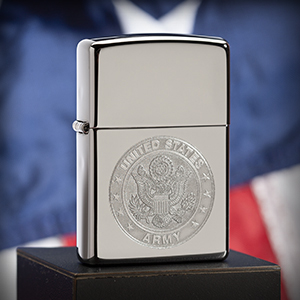 zippo, zippo lighter, windproof, army, army lighter, lustre, double lustre, silver, chrome, crome