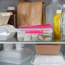 Sistema To Go Fun, colorful containers are easy to find in the fridge.