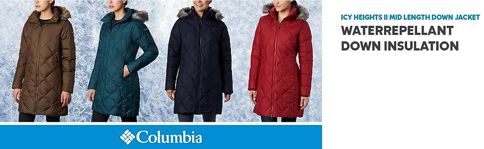 Columbia Women's Icy Heights II Mid length down winter jacket