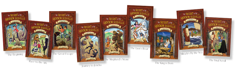 secret of the hidden scrolls time travel adventure series m.j. Thomas early reader chapter books kid