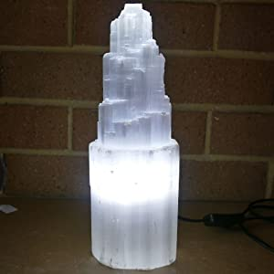 5-7 lbs Hand Carved 100/% untreated Selenite Crystal 7-11 inches WBM W-1051 Himalayan Glow Natural Lamp