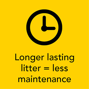 TIDY CATS longer lasting litter; low maintenance