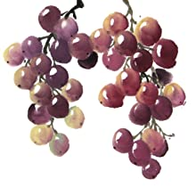 Asian painting techniques  grapes look  pluck paper eat Sumi-e style grapes relaxed dynamic