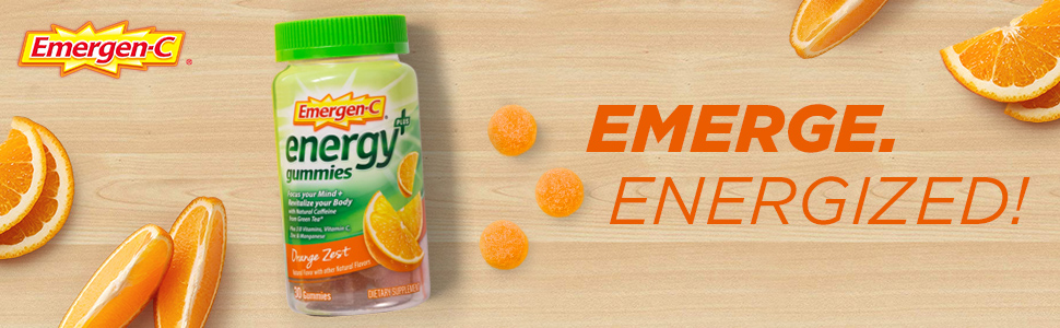 Emergen-C, EmergenC, Energy Drink Mix, Energy Powder, Natural Caffeine, Energy Gummies, Green Tea