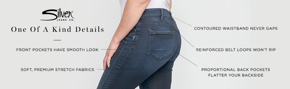 22d70e54 Amazon.com: Silver Jeans Co. Women's Plus Size Boyfriend Relaxed Fit ...