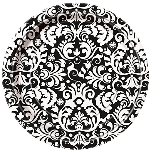 Black Damask Dinner Plates 8ct · Black Damask Dessert Plates 8ct · Black Damask Party Napkins 16ct · Black Damask Anniversary Party Napkins 16ct ...  sc 1 st  Amazon.com & Amazon.com: Black Damask Dinner Plates 8ct: Toys u0026 Games