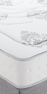 Queen 10.5 Inch innerspring memory foam mattress, hybrid mattress queen, best firm hybrid mattress