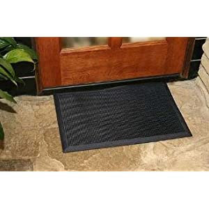 Durable Heavy Duty Rubber Fingertip Outdoor Entrance Mat 16 X 24 Black Amazon Ca Industrial Scientific