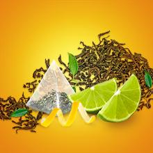Les avantages du sachet Pyramid, mélange de feuilles de thé noir avec des écorces d'agrumes, sachet
