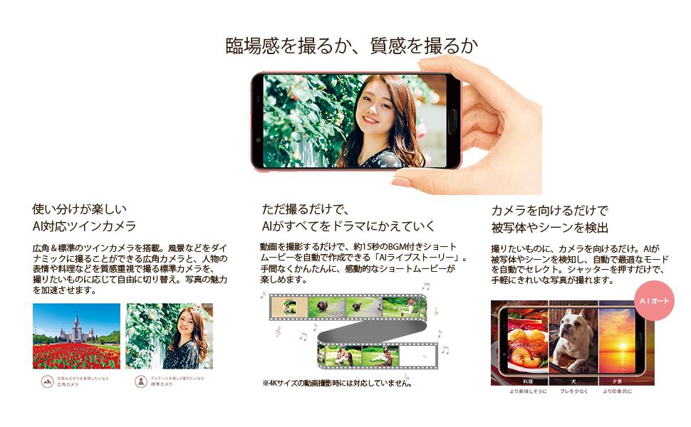AI対応 ツインカメラ 2眼 標準 広角