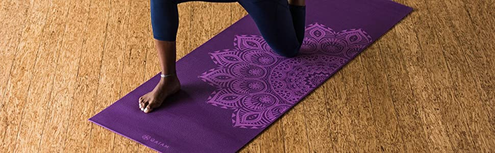 Amazon.com : Gaiam Print Premium Yoga Mats : Sports & Outdoors