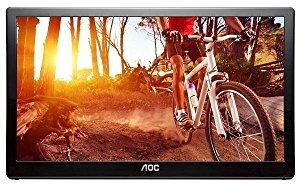 AOC e1659Fwux- Pro 16-Inch Class, Full HD 1920x1080 Res, 300 cd/m2 Brightness, USB 3.0-Powered, Port